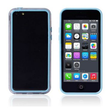 Bumper blauwe en transparante rand in TPU IPhone 5C