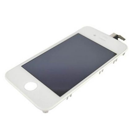 Original Quality Complete Kit : Glass Digitizer & LCD Screen & Frame + Backcover + Button for iPhone 4S White