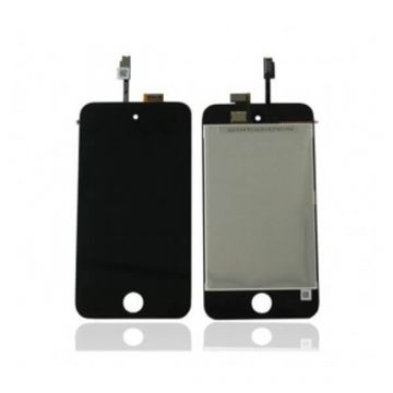 Touch Glass  & LCD Screen & Full Frame for iPod Touch 4th Generation Black