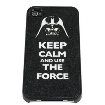 Coque rigide Keep calm and use the force iPhone 4 4S