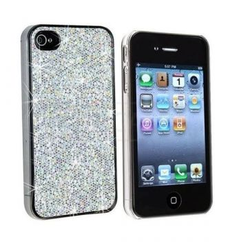 Weisse Diamanten Backcover für iPhone 4, 4S