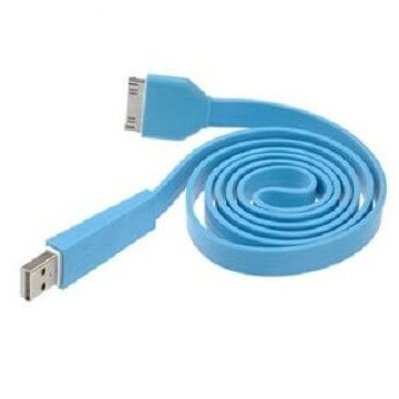 Flat Resistant USB Colored Cable for iPhone and iPod