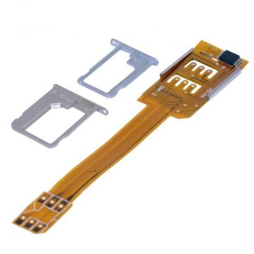 Nappe adaptateur double carte SIM iPhone