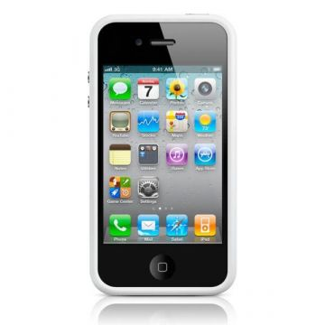 Bumper - Witte rand in TPU IPhone 4 & 4S