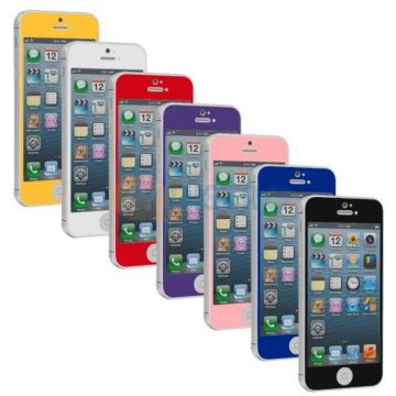 Tempered glass screenprotector iPhone 5/5S/5C/SE gekleurd - iphone accessoires