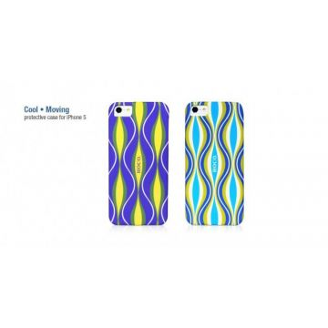 "Cool Moving ""Wave"" case voor iPhone  5/5S/SE"