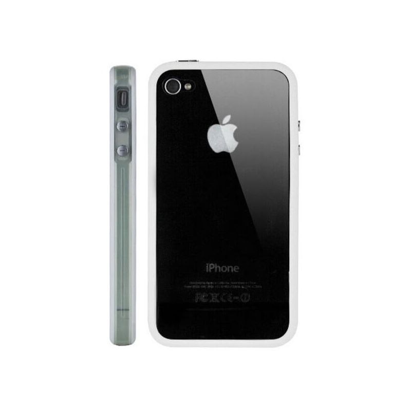 Bumper - Contour TPU Blanc & Transparent IPhone 4 & 4S
