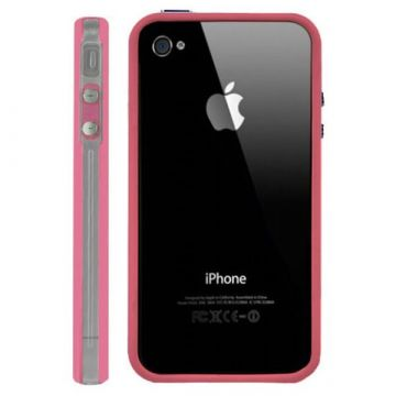 Bumper - Contour TPU Rose & Transparent IPhone 4 & 4S