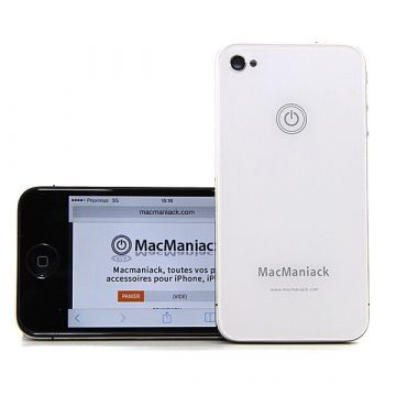 iPhone 4S achterkant MacManiack wit - iphone reparatie
