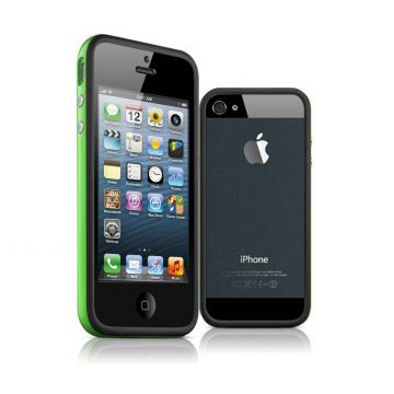 TPU Black and Green Bumper iPhone 5/5S/SE