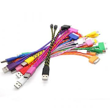 Cable tressé 3 en 1 iPhone 4 iPhone 5 et Micro USB