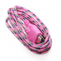 Braided USB Cable for iPhone iPad and iPod