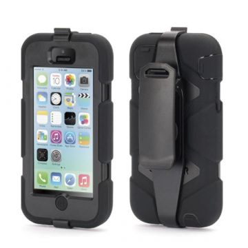 Indestructible Black Case for iPhone 5C