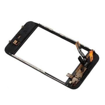 Touch screen digitizer and complete frame for iPhone 3Gs black