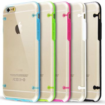 TPU soft iPhone 6 case with coloured frame