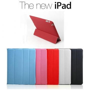 Polyurethane Integral Smart Case iPad 2/3/4 Red