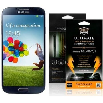 Protective film with Samsung Galaxy S4 GT-i9500 packaging