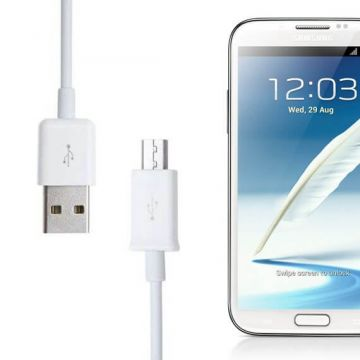 White USB microphone cable for Samsung