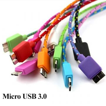 Micro USB 3.0 braided cable 1 meter for Samsung