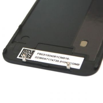 Vervangings backcover glas IPhone 4 Zwart