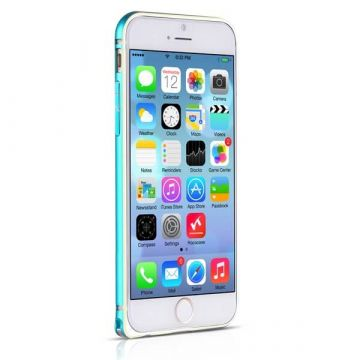 Bumper ultra-fin Aluminium 0,7mm contour doré iPhone 6