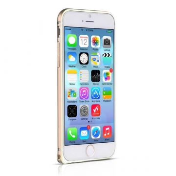 Bumper ultra-fin Aluminium 0,7mm contour doré iPhone 6 Plus