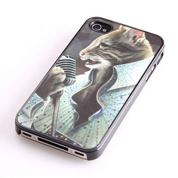 Coque chat Elvis Presley iPhone 4 4S