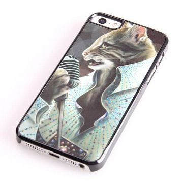 iPhone 5/5S/SE Elvis Style Kat Hard Case iPhone hoesjes