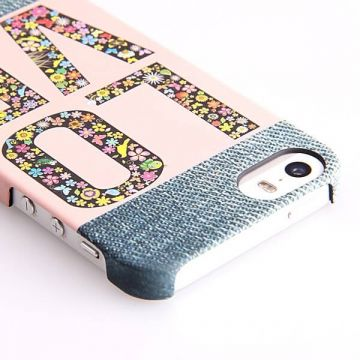 Love my Denim Pattern Hard Case iPhone 5/5S/SE hoesje