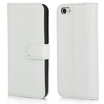 Etui portefeuille simili cuir iPhone 5C