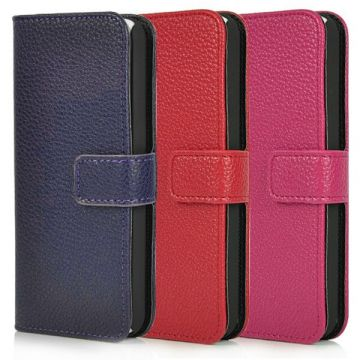 Colored leatherette Portfolio Stand Case iPhone 5C
