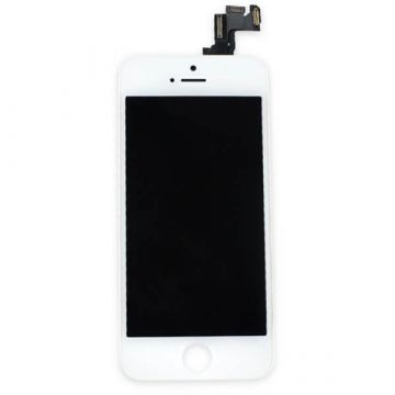 1st Quality Glass digitizer complete assembled, LCD Retina Screen and Full Frame for iPhone 5S White