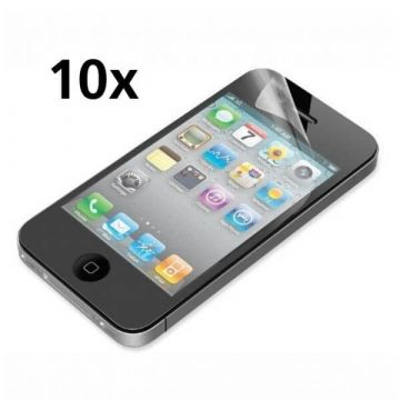 Pack of 10X Screen Protectors F&R face brilliant iPhone 4/4S (without packaging)