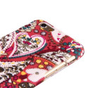 Heart Pattern Textile Hard Case iPhone 6