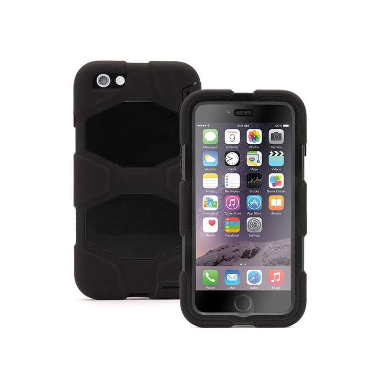 Onverwoestbare zwarte case iPhone 6 Plus/6S Plus