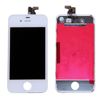 Original Glass Digitizer, LCD Screen and Full Frame for iPhone 4 White
