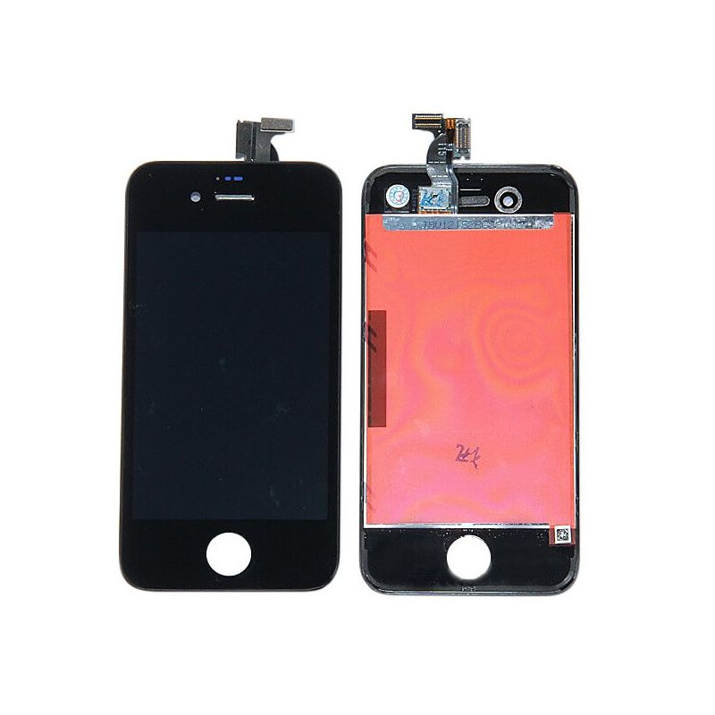 Original Glass Digitizer, LCD Screen and Full Frame for iPhone 4S Black