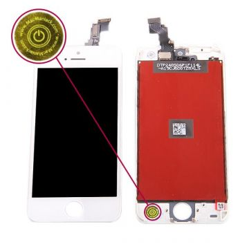 First Quality Glass digitizer and LCD Retina Screen for iPhone 5C White
